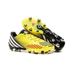 6e407e6e7 Adidas Predator LZ TRX FG Jaune Noir Rouge Soccer Boots, Black Football  Boots, Adidas