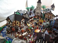 A Medieval Market Built From LEGO