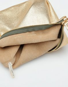 8aabb89a1359 Foldover Clutch In Gold Clare Vivier