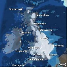 The TV forecasts are likely to be producing scenes similar to or worse than this for later NEXT WEEK for many parts of the UK & Ireland on our current indications + More detailed info on this event in subscribers reports @ http://www.exactaweather.com/uk-long-range-forecast.html