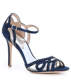 Shop Badgley Mischka shoes on our official website. Peruse elegant designer heels, wedges, flats, sandals and more, featuring signature styles and details. Footless Sandals, Dress Sandals, Bridal Shoes, Wedding Shoes, Bridal Footwear, Badgley Mischka Shoes, Evening Shoes, Designer Heels, Signature Style