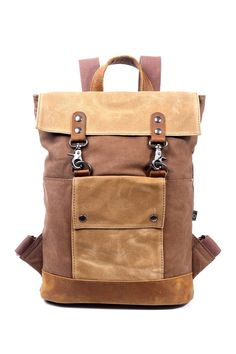 Luggage Backpack, Canvas Backpack, Wall Pockets, Bradley Mountain, Leather Craft, Clothing Items, Nordstrom Rack, Color Blocking, Cotton Canvas