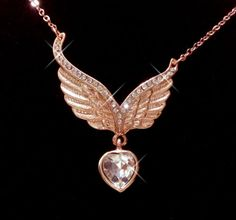 Gold Plated Wings Heart | eBay
