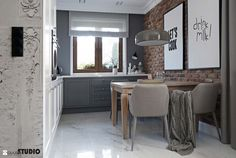 Nieziemsko przytulny i stylowy dom Kitchen Interior, Home Interior Design, Dining Bench, Sweet Home, Living Room, Table, House, Furniture, Home Decor