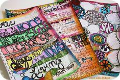 Art Journaling 101: Buildable Art Journals Part 2 by Julie Ann Shahin at http://tangiebaxter.com/news/2011/08/16/art-journaling-101-buildable-art-journals-part-2/