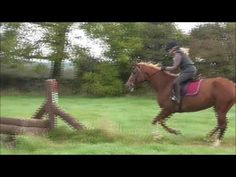 First time jumping Cross Country. Email coopershillequine@gmail.com for more information on horse riding vacations in Ireland.