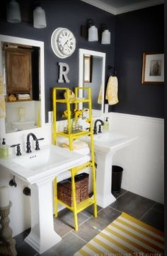 Brilliant 19 Best Navy And Yellow Bathroom Images In 2014 Yellow Download Free Architecture Designs Ogrambritishbridgeorg