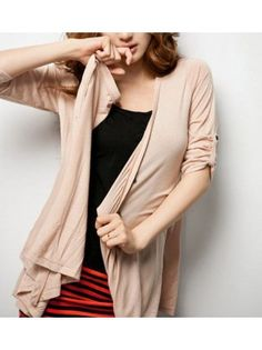 High Low Long Sleeved Cardigan