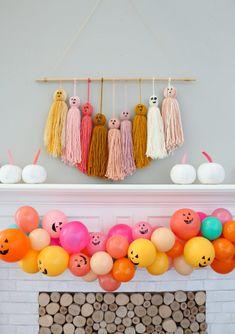 DIY Jack O' Lantern Balloon Garland - A Kailo Chic Life