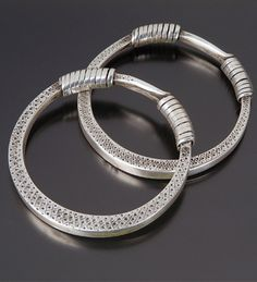 China   Silver bracelets from the Dong people   Early 20th century
