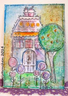 **ART*JOURNAL*JOURNEY*: 06/ 2014 HOUSES / Häuser - Challenge by Susi Froebelsternchen