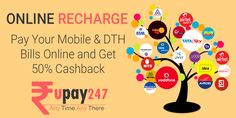 recharge you mobile and dth and get 50% cashback