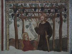 Simone II Baschenis - Noli me tangere - affresco - 1539 - abside Chiesa di San Vigilio a Pinzolo (Trento, Italia)