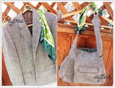 Love this bag made out of a thrifted men's dress coat. Not a pattern but good pics and tips.