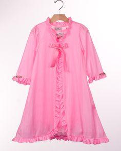 Laura Dare Bright Pink Peignoir Nightgown Set