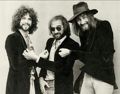 Lindsey Buckingham, John McVie and Mick Fleetwood of Fleetwood Mac