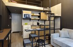 4905e3605_1280x0 Industrial Loft, Life Hacks, Stairs, Bed, Table, Furniture, Home Decor, Home Decoration, Stairway