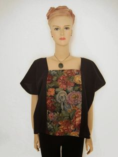 Greenie Dresses for Less: Easy Tapestry Panel Top + FREE Pattern Instructions