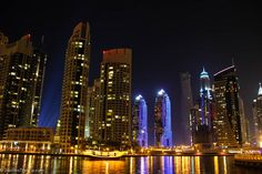 Dubai Marina by Night (Or That Night We Entertained Construction Workers)