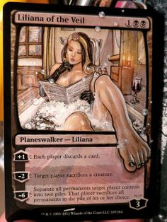 Magic Cards altered - Liliana of the Veil