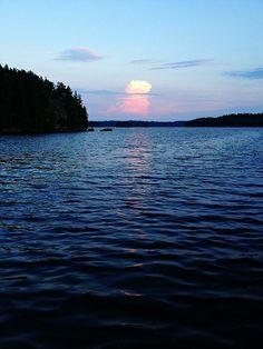 Summer evening in Finland