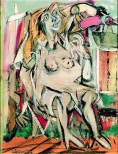 Willem de Kooning: Figure (1949)