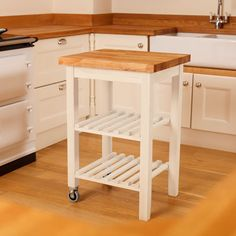 Wooden Kitchen Trolley Butchers Block Trolley, Butcher Block Kitchen Cart, White Kitchen Cart, Steel Furniture, Cheap Furniture, Kitchen Furniture, Furniture Market, Pallet Furniture, Kitchen Pantry Cabinets
