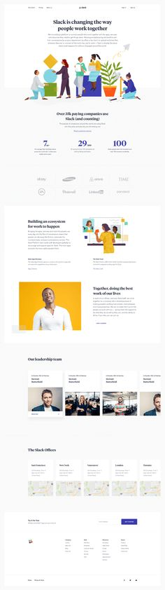 Slack by Ueno. A case study. Site Inspiration, First Web Page, Site Vitrine, People Working Together, Halftone Pattern, Minimal Web Design, Team Page, Corporate Website, Picture Story