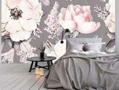 Removable Wallpaper Mural Peel & Stick Watercolor Seamless