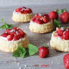 Herzschlüssel: Erdbeertörtchen, Nordic Ware, Thermomix, Lumara, KitchenAid, #DIY, Rezept