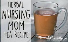 Herbal Nursing Mom Tea Recipe  This simple herbal nursing mom tea can help increase milk supply and nourish nursing moms during breastfeeding.