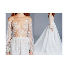 fashion edits detail 2016 Paolo Sebastian couture spring couture... ❤ liked on Polyvore featuring dresses