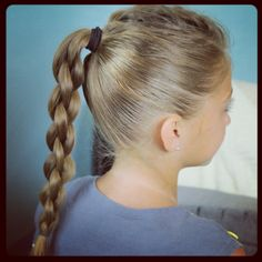 Single Frenchback into Round Braid   Back-to-School Hairstyles   Cute Girls Hairstyles