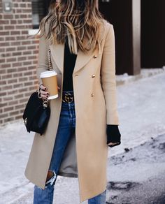 Fold-Over Collar Patchwork Single Breasted Plain Coats – blinglikes 2000s Fashion, Girl Fashion, Fashion Outfits, Womens Fashion, Fashion Trends, Poncho Outfit, Ladies Dress Design, Autumn Winter Fashion, Autumn Style