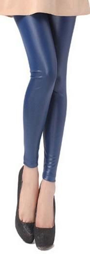 2017 spring autumn large size leggings fake leather pant elastic slim red blue black legging fashion street sexy fitted pants