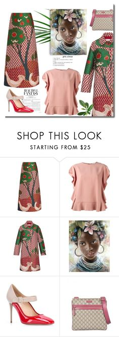"""""""Bold Prints!"""" by faten-m-h ❤ liked on Polyvore featuring RED Valentino, Valentino and Gucci"""