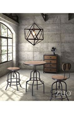 """Based on the same mechanisms of drafters chairs in the early 1900's, the Twin Peaks counter table's adjustable mechanism allows a comfortable height for anyone. The top is solid Elmwood and the base and accents are antique metal. - Material: Metal, Fir Plywood - Color: Distressed Natural - Easy assembly - Dimensions: 25"""" W x 27"""" L x 25"""" H. Weight: 34.1 lbs Note: Return policy: Unopened product in original packaging with 30% manufacturer restocking fee."""