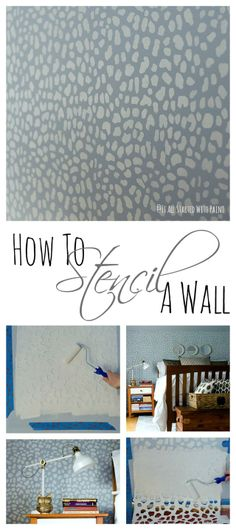 how to stencil wall tutorial