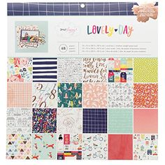 American Crafts 376969 Dear Lizzy Lovely Day Paper Pad 12 X 12 48 Sheet Paper Pad * Be sure to check out this awesome product.(It is Amazon affiliate link) #followers