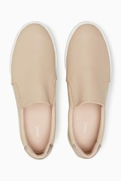 Essential women's trainers complete your sports gear in style. Pick from a range of comfy slip-ons, canvas & skater styles. Holiday Shoes, Skater Style, Birthday Wishlist, Slip On Shoes, Slippers, Nude, Chic, Heels, How To Wear