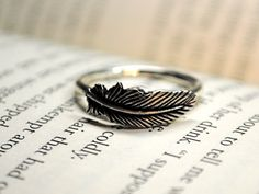 Silver Feather RIng Size 6 from KellyStahley on Etsy. Saved to Jewelry. Shop more products from KellyStahley on Etsy on Wanelo. Feather Ring, Feather Jewelry, Jewelry Box, Jewelry Accessories, Jewellery, Silver Jewelry, Hush Hush, Easy Style, Ty Dye