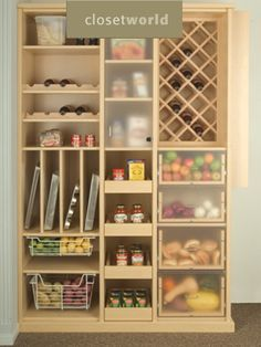 This is a wonderful pantry layout from closet design.