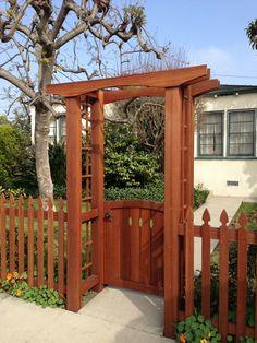 Visit the post for more. Garden Arbor With Gate, Backyard Gates, Garden Archway, Garden Gates And Fencing, Garden Entrance, Arbor Gate, Home Landscaping, Front Yard Landscaping, Garden Deco