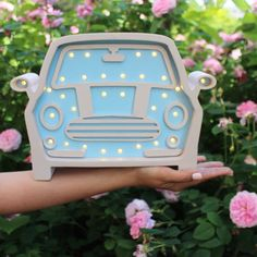 Wooden Car Mini Cooper HOME Nighstyle Nursery by MintWhaleGifts