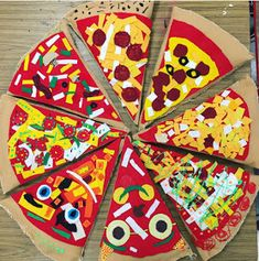 Cassie Stephens: In the Art Room: Fourth Grade Pizza Pillows!