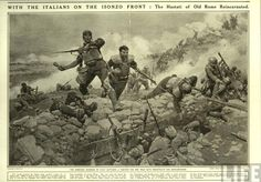 """ Le compagnie della morte all'assalto. ""   WWI illustration about the Italian stormtoopers."
