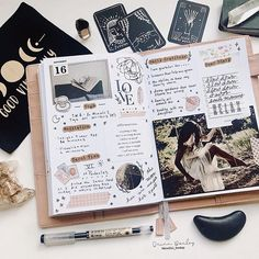 Having a beautiful day at home creating new things. The sun is shinning for the first time in weeks and it is so energizing. ☀️ Hoping to… Bullet Journal Monthly Spread, Bullet Journal Mood, Bullet Journals, Doodle Inspiration, Journal Inspiration, Journal Ideas, Memory Journal, Journal Pages, Cool Journals