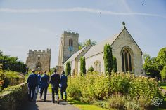 St Nicholas church Ripon near the Bull inn. Groom and grooms men heading to the church. Beautiful English Heritage site in Yorkshire.   St Nicholas church The Bull Inn in West Tanfield and  Ripon.  Jenny Packham dress . Tanfield House Riverside Events Wedding.   Want to see more?  www.jamesandlianne.com  Yorkshire based wedding photography capturing the day how you remember it.