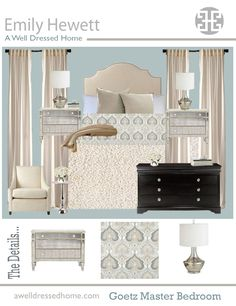 Goetz Master Bedroom Design Board