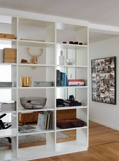 4 Prodigious Ideas: Mid Century Room Divider Home rustic room divider ceilings.Room Divider Panels Wheels mid century room divider home. Bookshelf Room Divider, Metal Room Divider, Bamboo Room Divider, Room Divider Walls, Living Room Divider, Bookshelf Ideas, Divider Cabinet, Open Bookcase, Bookcase White